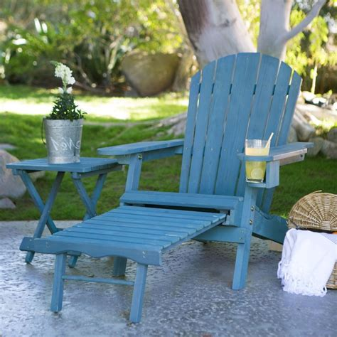 polywood adirondack chair with pull out ottoman blue stain wood adirondack chair with pull out ottoman and