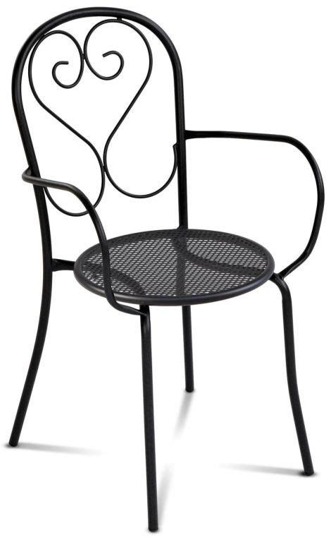 sigma sedie sedia da esterno in metallo sigma
