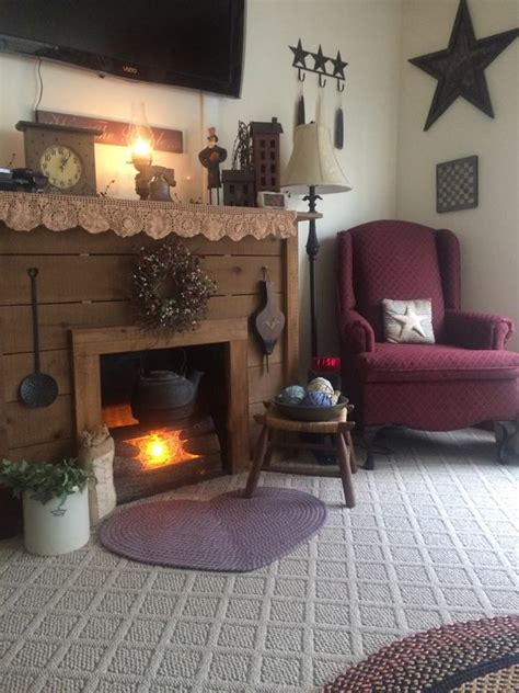 beautiful fireplace country primitive rooms pinterest 17 best images about primitive americana living room