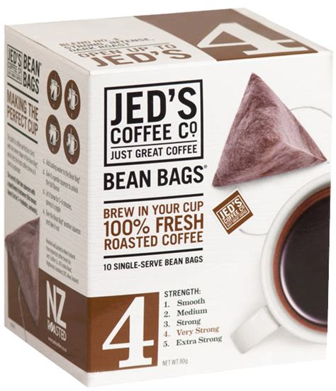 Single Serve Coffee Bags by Jed S Coffee Co 4 Bean Bags Coffee At Mighty Ape Nz