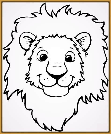 dibujos infantiles leones dibujos para pintar de tigres y leones para colorear
