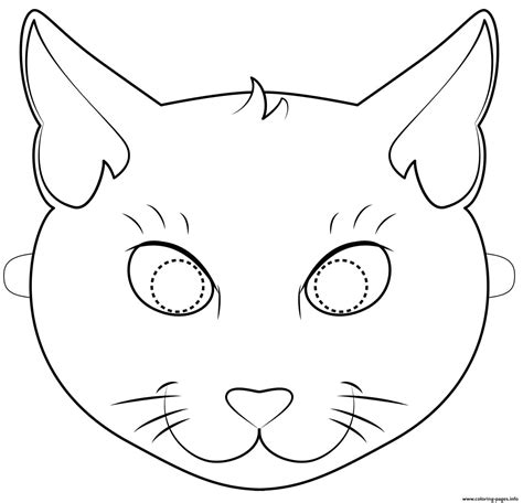 black cat coloring pages black cat mask outline coloring pages printable