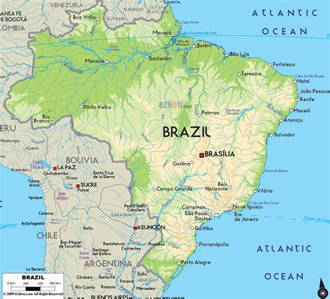 brazil map travel guide to brazil