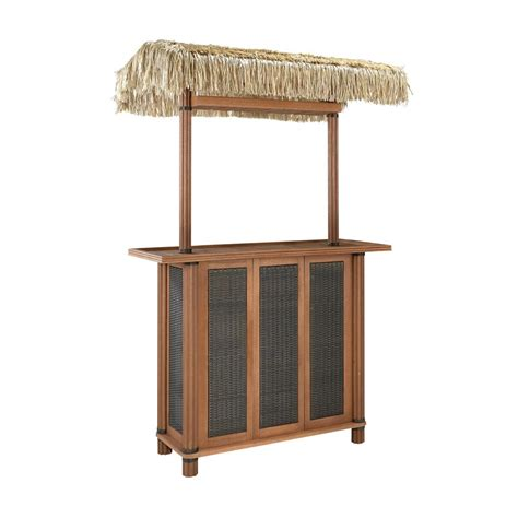 home styles bali hai tiki bar w woven panels the home