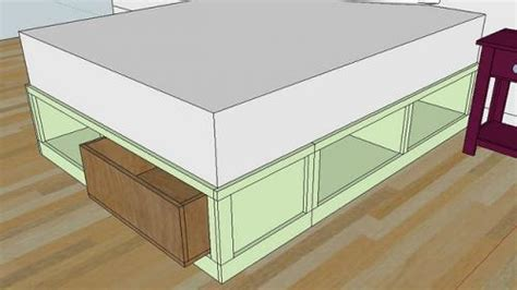platform storage bed plans queen plans diy