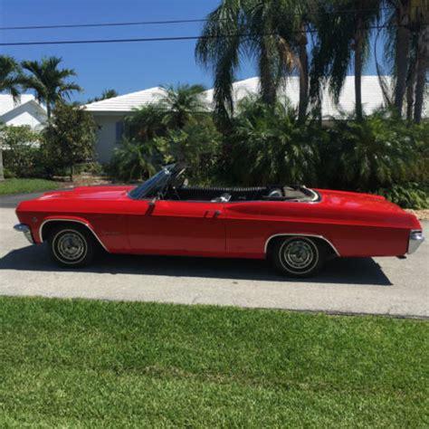 1965 ss impala convertible quot no reserve quot for sale photos