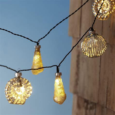 Glass Seashell String Light Backyard Mamma Seashell String Lights