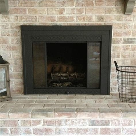 spray paint fireplace home dzine home improvement rev or makeover a fireplace