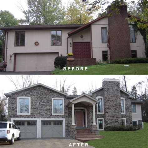 house redesign bi level exterior remodeling bi level exterior make over
