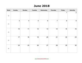 June 2018 Calendar With Holidays June 2018 Calendar With Holidays Calendar Printable Free