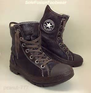 mens converse all outsider leather boots sz 6 brown