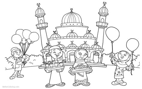coloring pages for ramadan ramadan coloring pages people at the mosque free