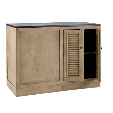 meuble bas cuisine 120 cm meuble bas d angle de cuisine en manguier l 120 cm persiennes maisons du monde