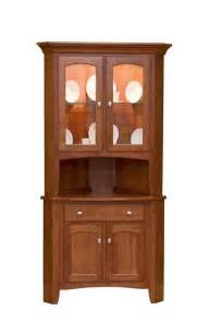 Corner Dining Room Hutch by Solid Wood Concord Corner Hutch From Dutchcrafters Amish