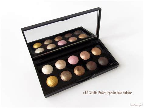 E L F Studio Eyeshadow e l f studio baked eyeshadow palette review makeupfu