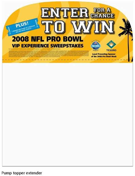 Pro Bowl Sweepstakes - 2008 nfl pro bowl enter to win sweepstakes by richard smith at coroflot com
