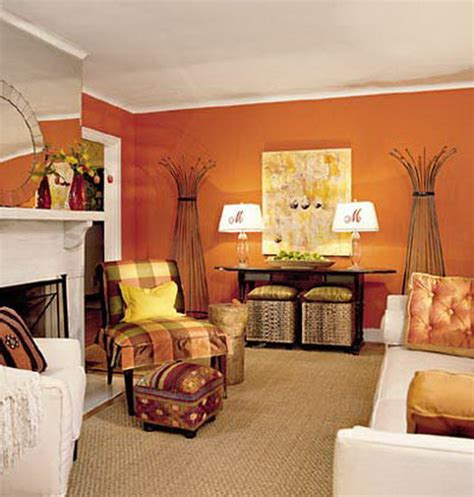 burnt orange living room walls pretty living room colors for inspiration hative