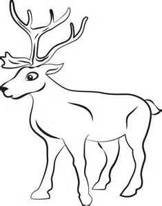coloring pages for reindeer free printable reindeer coloring page for
