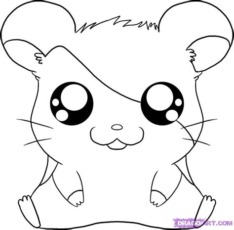cute coloring pages for 10 year olds how to draw cartoons how to draw hamtaro from the