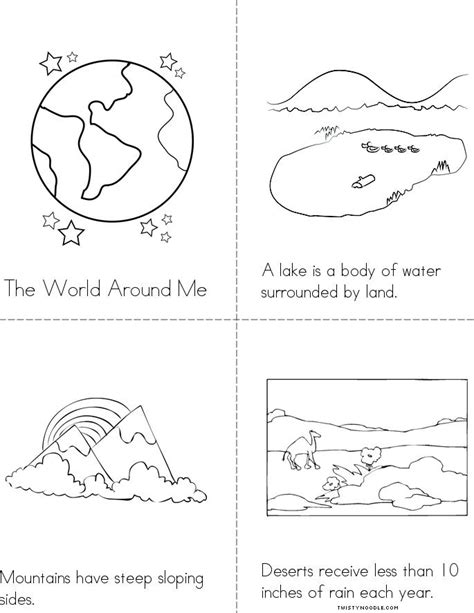 free coloring pages of types of landforms