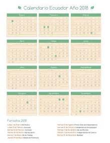 Calendario 2018 Ecuador Calendario Ecuador A 241 O 2018 Feriados 2018