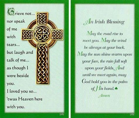 Celtic Funeral Card Free Templates by Blessings Memorial Print Image Funeral Ideas