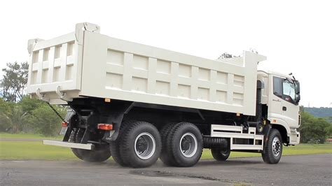 video truck hurricane dump truck foton