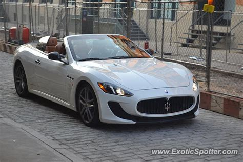 maserati grancabrio spotted in manhattan new york on 08