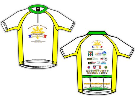 layout design for jersey nbd shirt and jersey national bicycle organization
