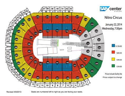 sap center seating chart sap center nitro circus live