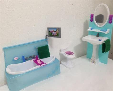 My Fancy Life Barbie Size Dollhouse Furniture, Bathing Fun