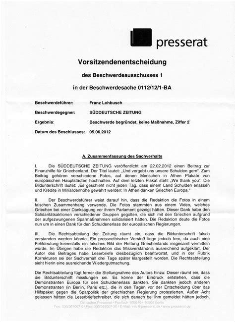 Beschwerde Brief An Vermieter Beschwerde S 252 Ddeutsche Zeitung We Are All Greeks
