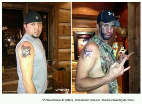jason aldean and luke bryan s buck commander tattoos mmmmm
