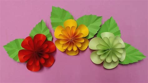 Flowers Using Paper - how to make flower with color paper diy paper flowers