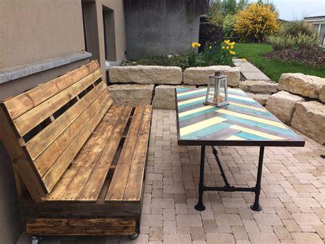 terrace bench terrace pallet bench table pallet ideas 1001 pallets