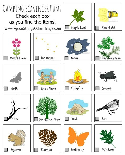 printable toddler scavenger hunt cing activities for kids printables