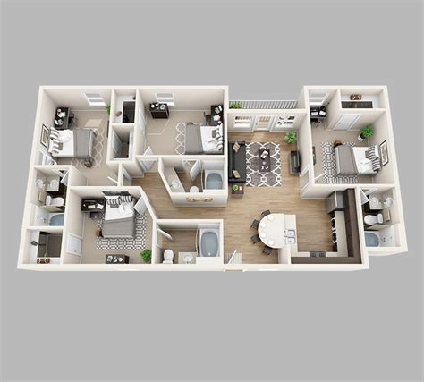 q1 4 bedroom apartment floor plans lux13 apartments