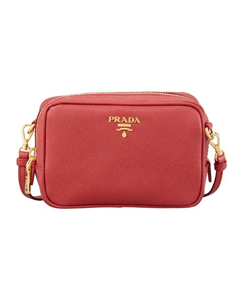 Promo Prada Safiano Mini prada saffiano mini zip crossbody bag in lyst