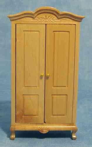 Kleiderschrank Naturholz by Schlafzimmer Das Puppenhaus 1zu12