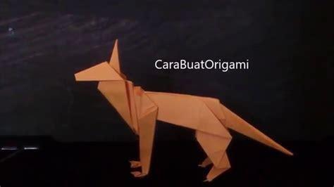 origami shepherd cara membuat origami anjing shepherd