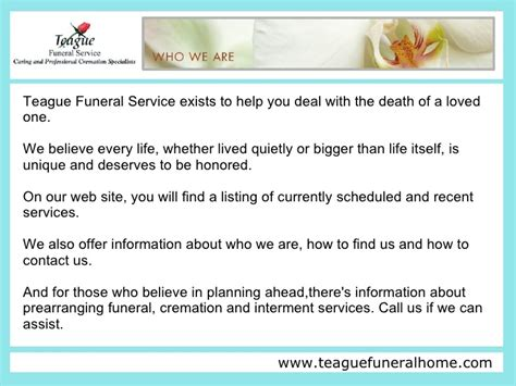 teague funeral home home review