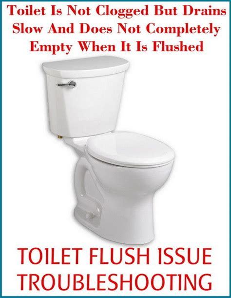 toilet is not clogged but drains slow diy tips tricks