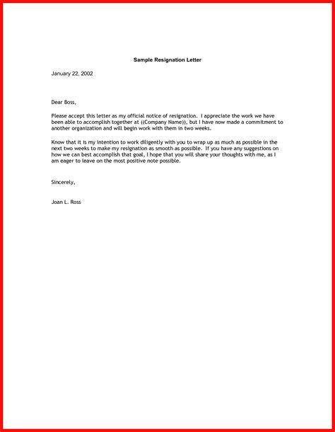 2 week letter of resignation good resume format
