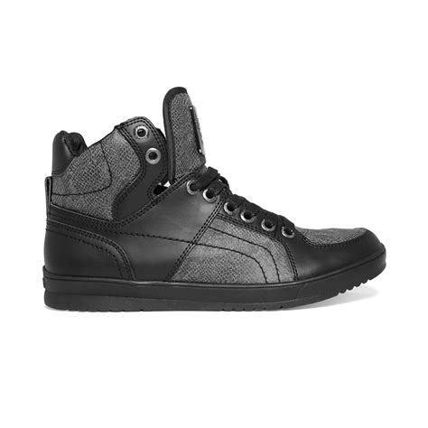guess sneakers mens guess mens shoes trippy sneakers in black for lyst