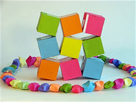 Origami Moving Cubes - origami maniacs origami moving cubes by heinz strobl