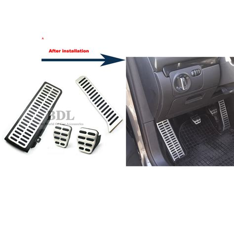 Autoparts1 Pedal Gas Manual buy car styling stainless steel foot fuel brake rest clutch mt pedals plate cover vw golf 7 gti
