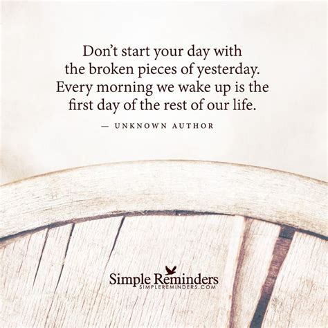 the start of day don t start your day with the broken pieces of yesterday