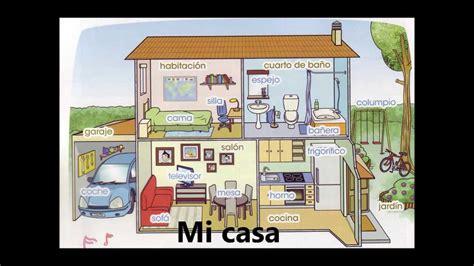parts of the house in spanish las partes de la casa the parts of the house spanish song youtube