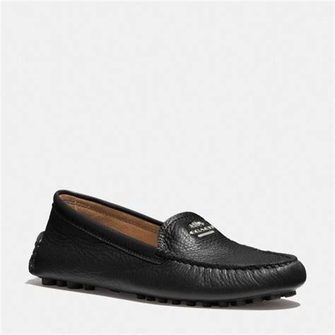 coach flat shoes outlet scout hobo in pebble leather