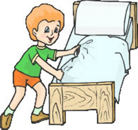 make bed clipart vocabulary